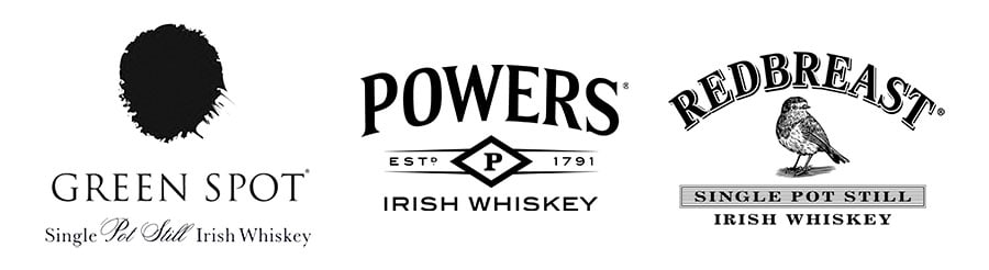 Powers, Red Breast, and Green Spot Logo