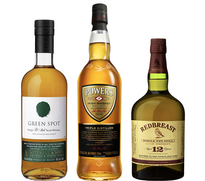 Powers, Red Breast, and Green Spot